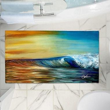 East Urban Home Corina Bakke's Ocean Wave Memory Foam Bath Rug; 17'' W x 24'' L
