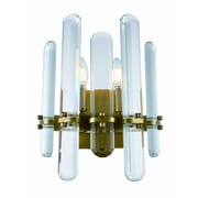 Everly Quinn Raelene 2-Light Candle Sconce; Burnished Brass