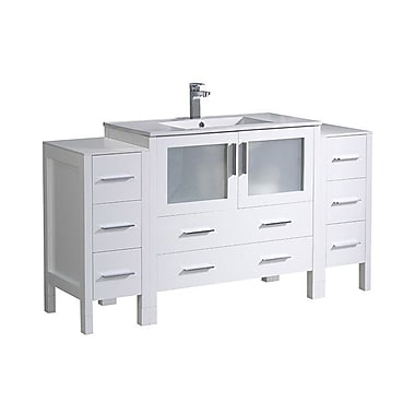 Fresca Torino 60'' Single Bathroom Vanity Set; White