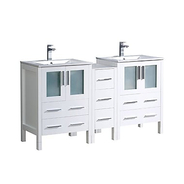 Fresca Torino 60'' Double Bathroom Vanity Set; White
