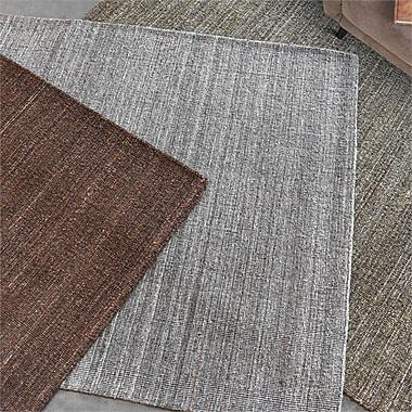 Brayden Studio Neely Hand-Woven Wool Light Gray Area Rug; 5' x 8'