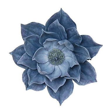 Charlton Home Decorative Resins Lotus Wall Flower Wall D cor; 11.25'' H x 10.75'' W x 3.25'' D