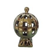 Charlton Home Ceramic D cor Globe; Gold