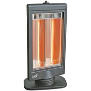 Comfort Zone Oscillating Flat Panel Dual Halogen Electric Radiant Compact Heater