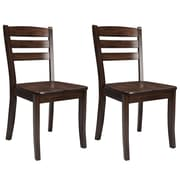 CorLiving Dillon Solid Wood Dining Chairs in Cappuccino Stain Finish, Set of 2 (DSH-190-C)
