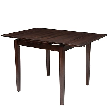 CorLiving – Table de salle à manger extensible à abattants en bois, cappuccino (DSH-290-T)