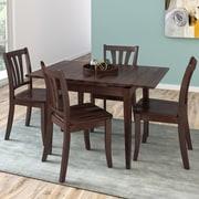 CorLiving – Ensemble 5 pièces de salle à manger en bois massif teinté Dillon avec table extensible, cappuccino (DSH-290-Z2)
