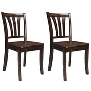 CorLiving Dillon Solid Wood Dining Chairs in Cappuccino Stain Finish, Set of 2 (DSH-390-C)