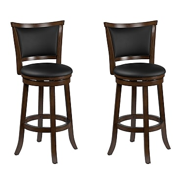 CorLiving – Tabouret de bar de 29 po Woodgrove en bois teinté brun, 2/paquet (DWG-109-B)