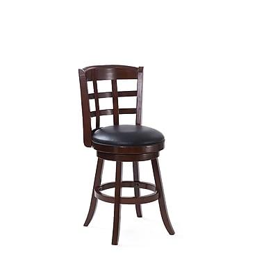 CorLiving – Tabouret de bar à hauteur comptoir de 25 po Woodgrove en bois teinté cappuccino (DWG-194-B)