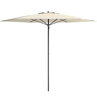 CorLiving UV and Wind Resistant Beach/Patio Umbrella, Warm White (PPU-610-U)