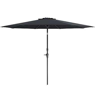 CorLiving Wind Resistant Tilting Patio Umbrella, Black (PPU-700-U)