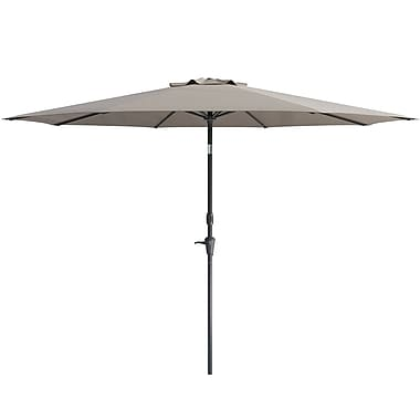 CorLiving Wind Resistant Tilting Patio Umbrella, Grey (PPU-730-U)