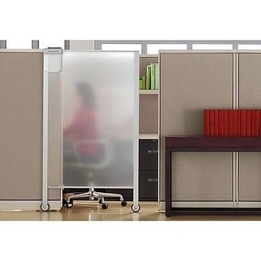 Quartet® - Cloison de confidentialité de luxe pour poste de travail, 38 po x 64 po, transparent