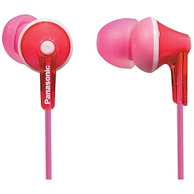Panasonic In-Ear Headphone with Mic, Pink (PANHTCM125P)