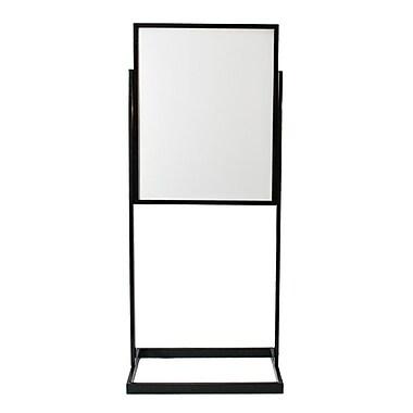 JJ – Présentoir de plancher, 22 x 28 po, noir (FSSHM2228-BK)