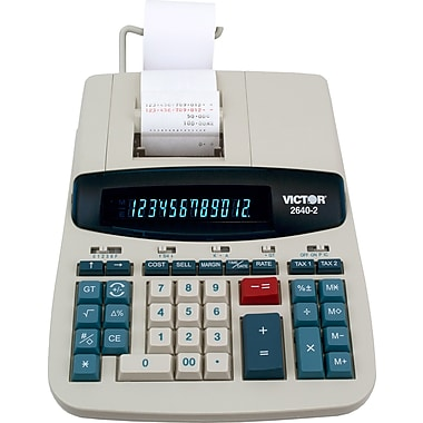Victor 2640-2 12 Digit Heavy Duty Printing Calculator
