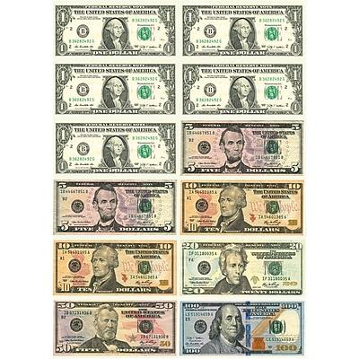 Ashley Math Die Cut Magnet, U.S. Dollars, 5/Pack 1582421