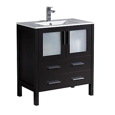 Fresca Torino 30'' Single Bathroom Vanity Set; Espresso