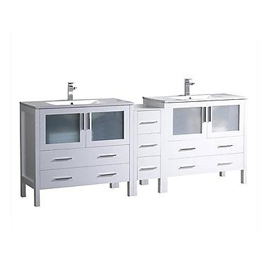 Fresca Torino 84'' Double Bathroom Vanity Set; White