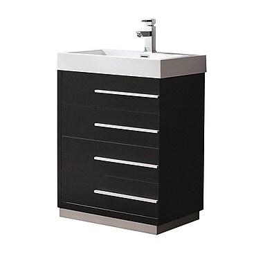 Fresca Livello 23'' Single Bathroom Vanity Set; Black