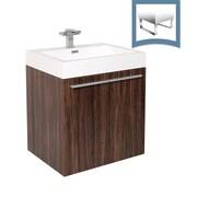 Fresca Alto 23'' Single Bathroom Vanity Set; Walnut