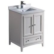 Fresca Oxford 24'' Single Bathroom Vanity Set; Antique White