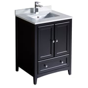 Fresca Oxford 24'' Single Bathroom Vanity Set; Espresso