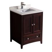 Fresca Oxford 24'' Single Bathroom Vanity Set; Mahogany