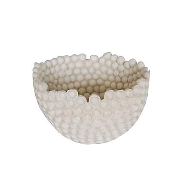 George Oliver Resin Honeycomb Decorative Bowl; 4.5'' H x 13'' W x 12.5'' D