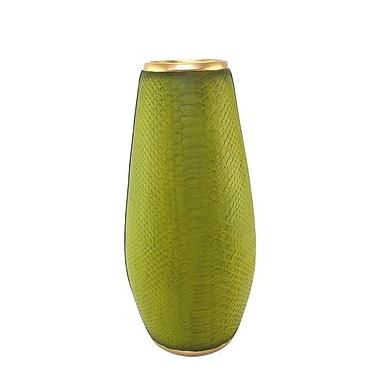 George Oliver Polyresin Boa Skin Flower Floor Vase; 18.5'' H x 8.75'' W x 7.5'' D