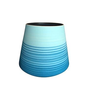 Ivy Bronx 17'' Decorative Ceramic Table Vase; 11.5'' H x 11.75'' W x 11.75'' D