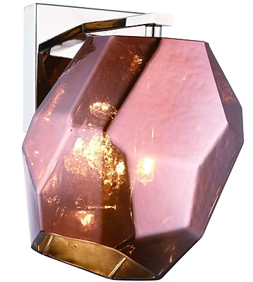 Ivy Bronx Cooley 1-Light Armed Sconce; Copper