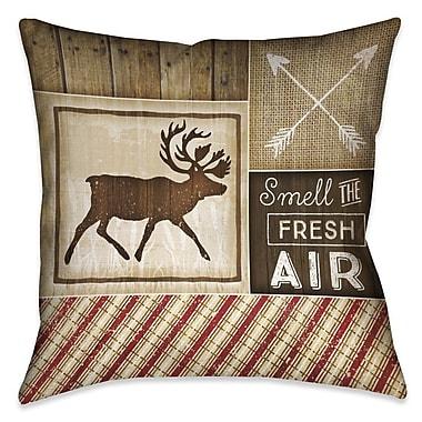 Loon Peak Jamari Rustic Outdoor Throw Pillow; 20'' x 20''
