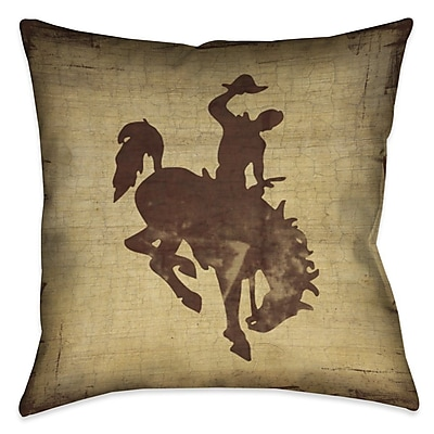 Loon Peak Donald Welcome to the Ranch Outdoor Throw Pillow; 18'' x 18''