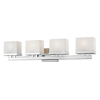Latitude Run Stratford 4-Light LED Vanity Light; Chrome