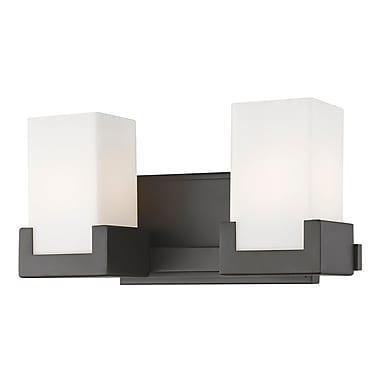Latitude Run Suffield 2-Light LED Vanity Light; Bronze