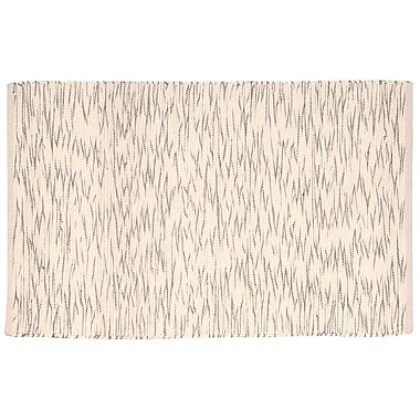 Highland Dunes Astley Cream/Brown Area Rug; 2'6'' x 4'