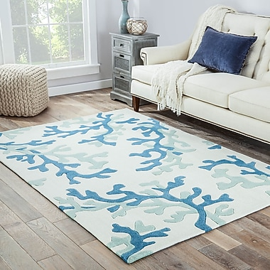 Highland Dunes Giada Hand-Tufted Green/Beige Area Rug; 3'6'' x 5'6''