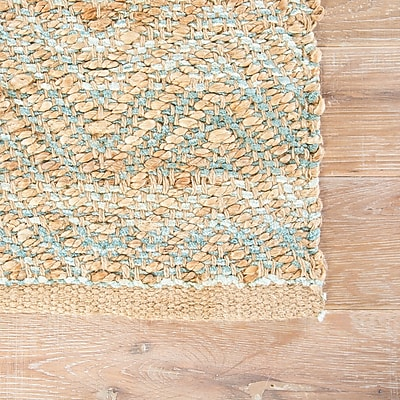 Highland Dunes Ina Jute and Rayon Brown Naturals Area Rug; 2'6'' x 4'