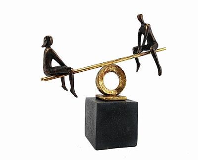 Orren Ellis Polyresin Teeter-Totter Figurine; Left