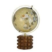 Red Barrel Studio Carved Wood Base Globe; 21'' H x 12'' W x 14'' D