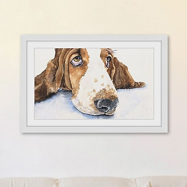 Marmont Hill 'Basset 4' by George Dyachenko Framed Painting Print; 45'' H x 30'' W