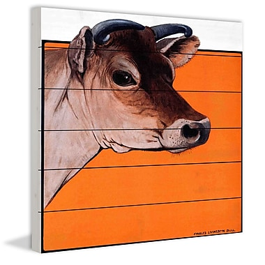 Marmont Hill 'Journal Calf' Painting Print on White Wood; 24'' H x 24'' W