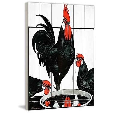 Marmont Hill 'Journal Poultry 2' Painting Print on White Wood; 18'' H x 12'' W