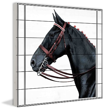 Marmont Hill 'Journal Horse 2' Painting Print on White Wood; 18'' H x 18'' W
