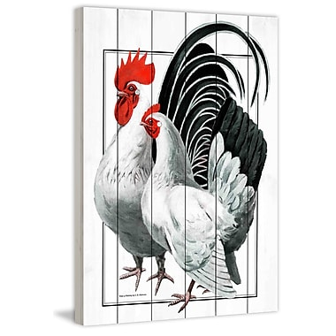 Marmont Hill 'Journal Poultry' Painting Print on White Wood; 18'' H x 12'' W