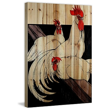 Marmont Hill 'Journal Poultry 3' Painting Print on Natural Pine Wood; 18'' H x 12'' W