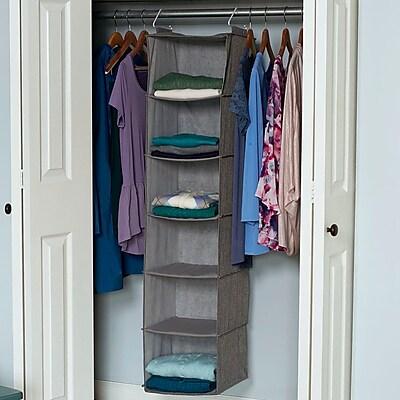 Rebrilliant 6 Compartment Closet Hanging Organizer
