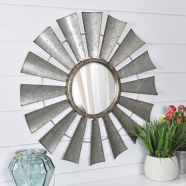17 Stories Hanging Windmill Accent Mirror